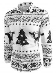 Christmas Geometry Pattern Long Sleeve Shirt -