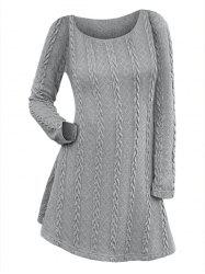 Long Sleeve Cable Knit Dress -