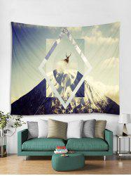 Christmas Deer Snow Mountain Tapestry Art Decoration -
