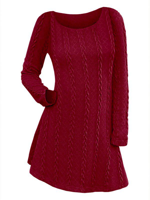 Outfit Long Sleeve Cable Knit Dress