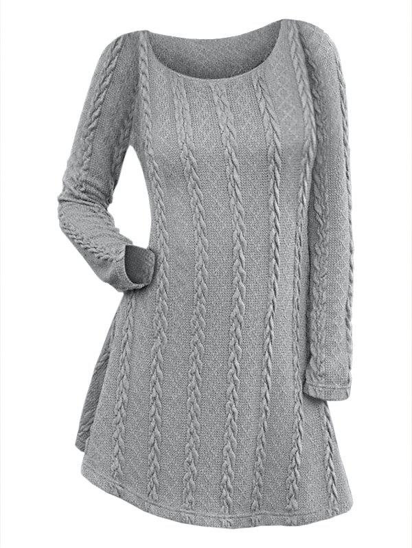 Shops Long Sleeve Cable Knit Dress