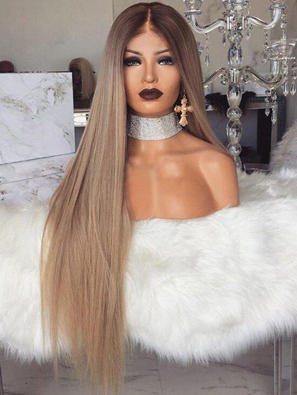 Fancy Middle Part Long Straight Ombre Party Synthetic Wig