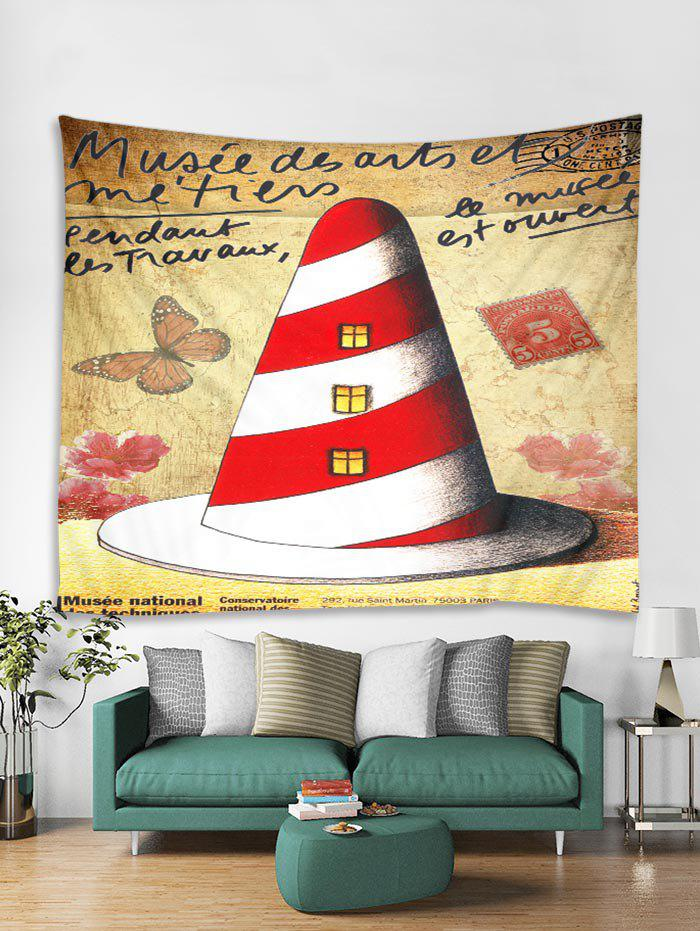 Discount Christmas House Print Tapestry Wall Hanging Art Decoration