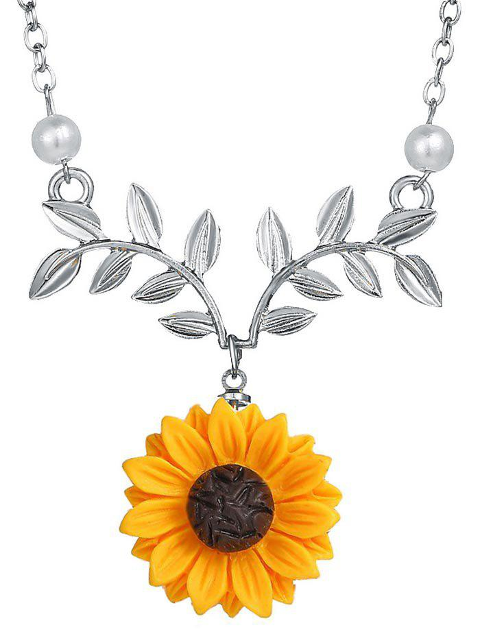 Shops Sunflower and Branch Pattern Necklace