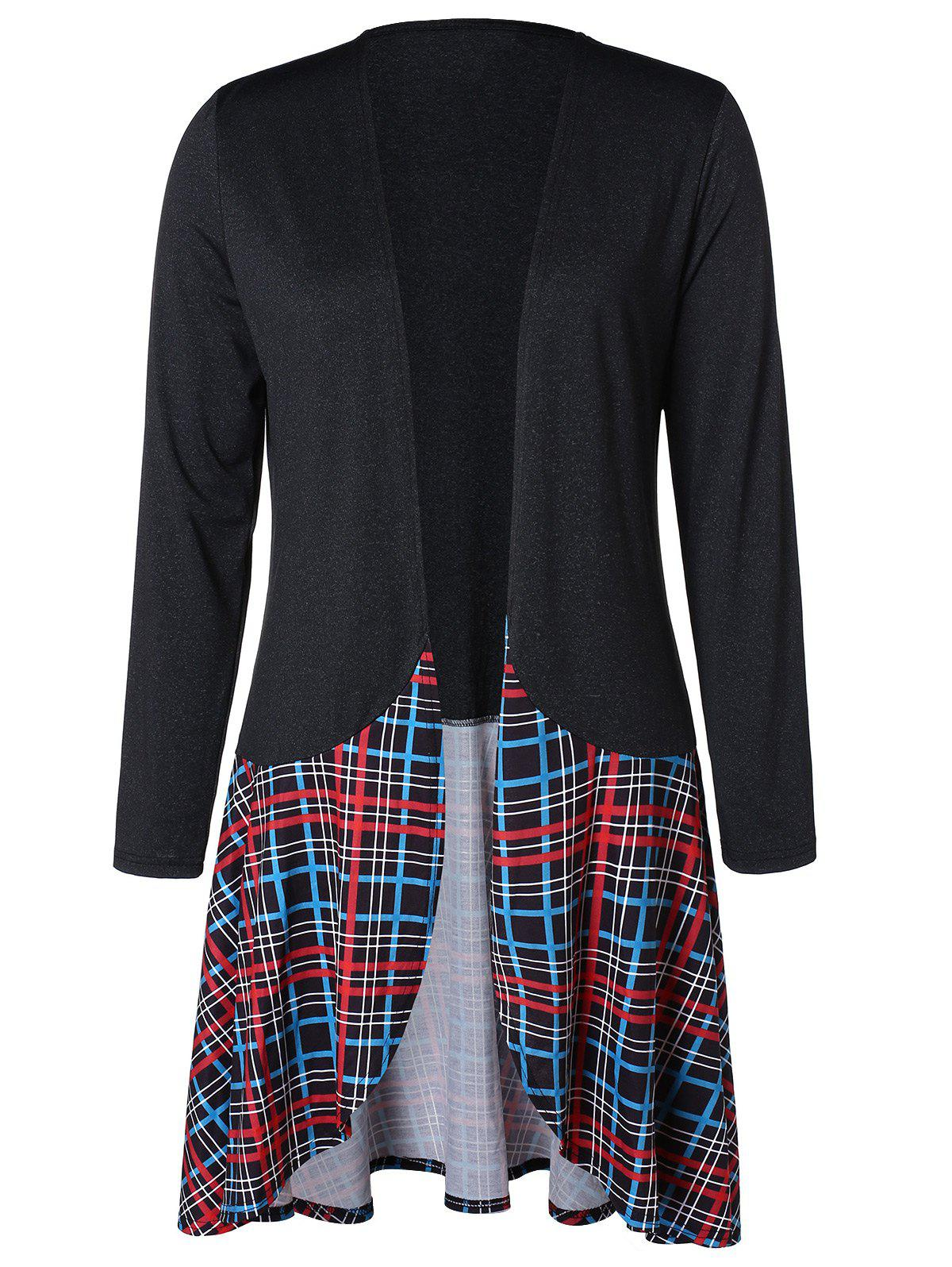 Buy Plus Size Longline Tartan Cardigan