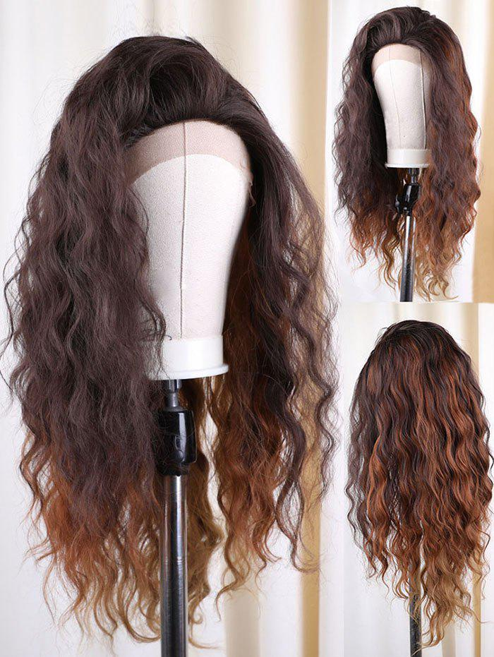 Affordable Long Colormix Natural Wavy Synthetic Lace Front Wig