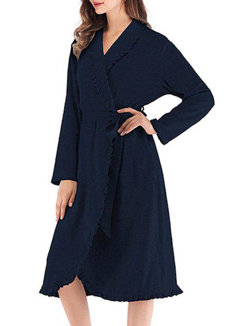 Online Belted Ruffle Pajama Robe