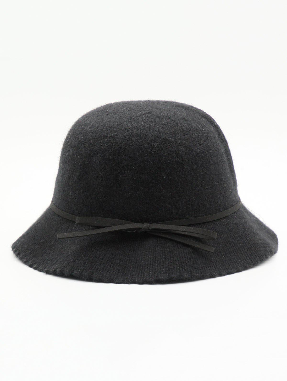 Latest Bowknot Solid Color Bucket Hat