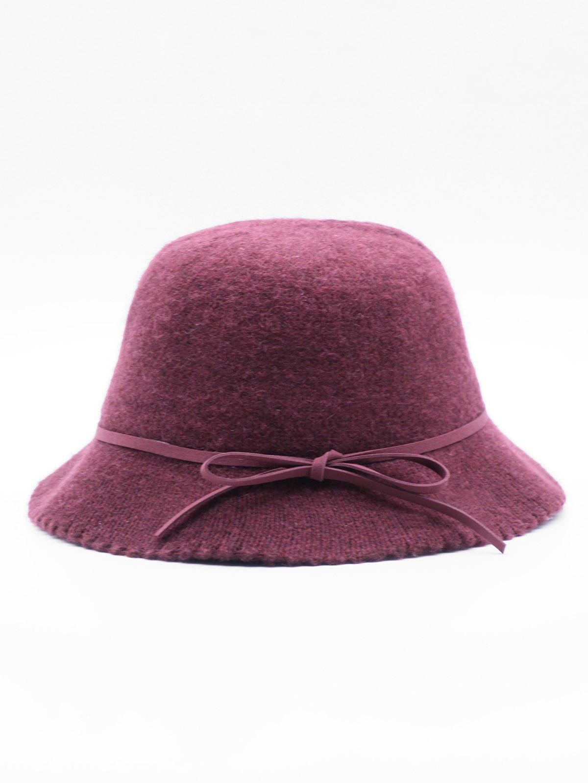 Cheap Bowknot Solid Color Bucket Hat