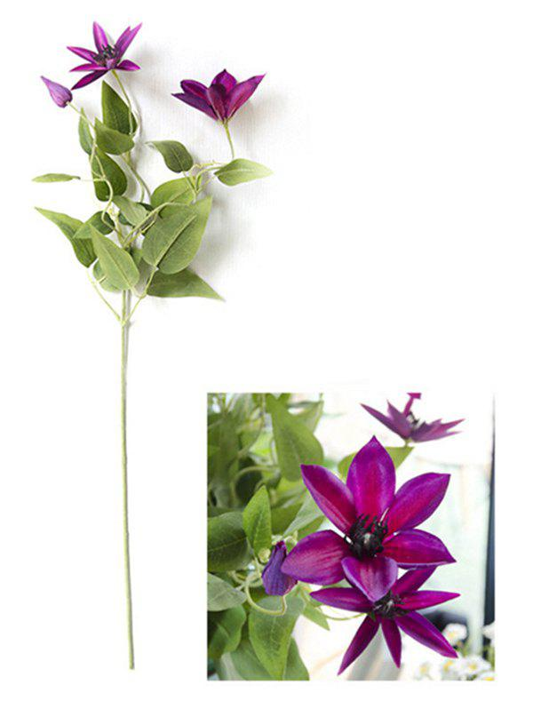 Chic Home Decoration Artificial Clematis Flowers