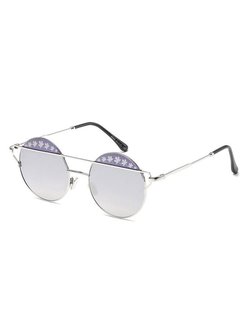 4433fb93e81f1 Outfit Vintage Floral Embellished Crossbar Round Sunglasses