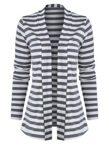 Striped Color Block Long Sleeve Cardigan