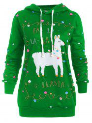 Christmas Pattern Plus Size Polka Dot Hoodie -