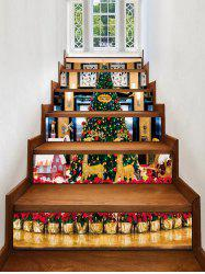 Christmas Tree Pattern Removable Stair Stickers -