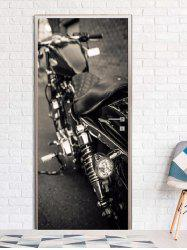 Motorbike Print Door Art Stickers -