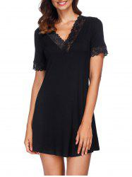 Lace Insert Mini Sleeping Dress -