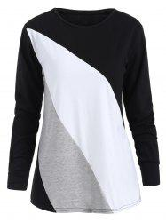 Long Sleeves Color Block T-shirt -