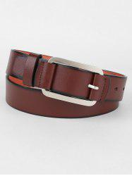 Metal Pin Buckle Faux Leather Belt -