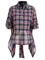 Plaid Tie Back Shirt -