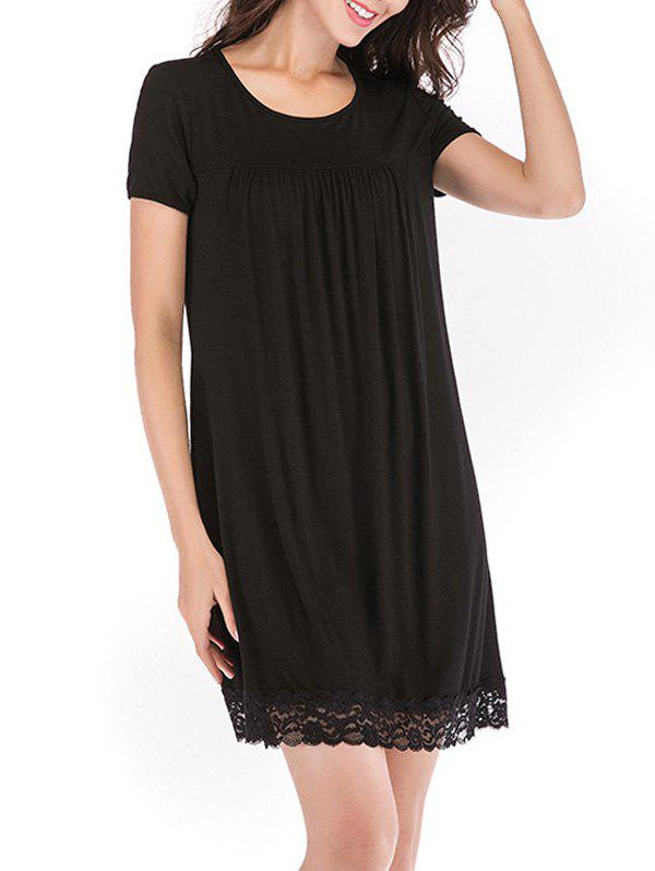 Buy Lace Trim Mini Sleeping Dress