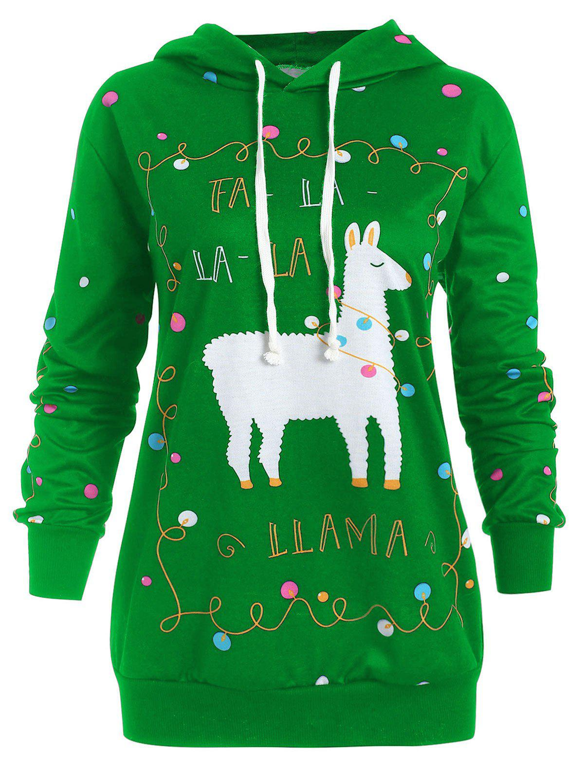 Sale Christmas Pattern Plus Size Polka Dot Hoodie