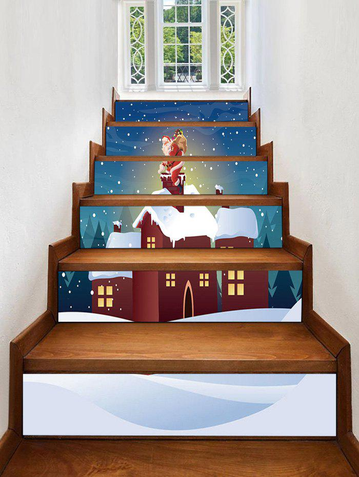Cheap Christmas Night House Pattern Removable Stair Stickers
