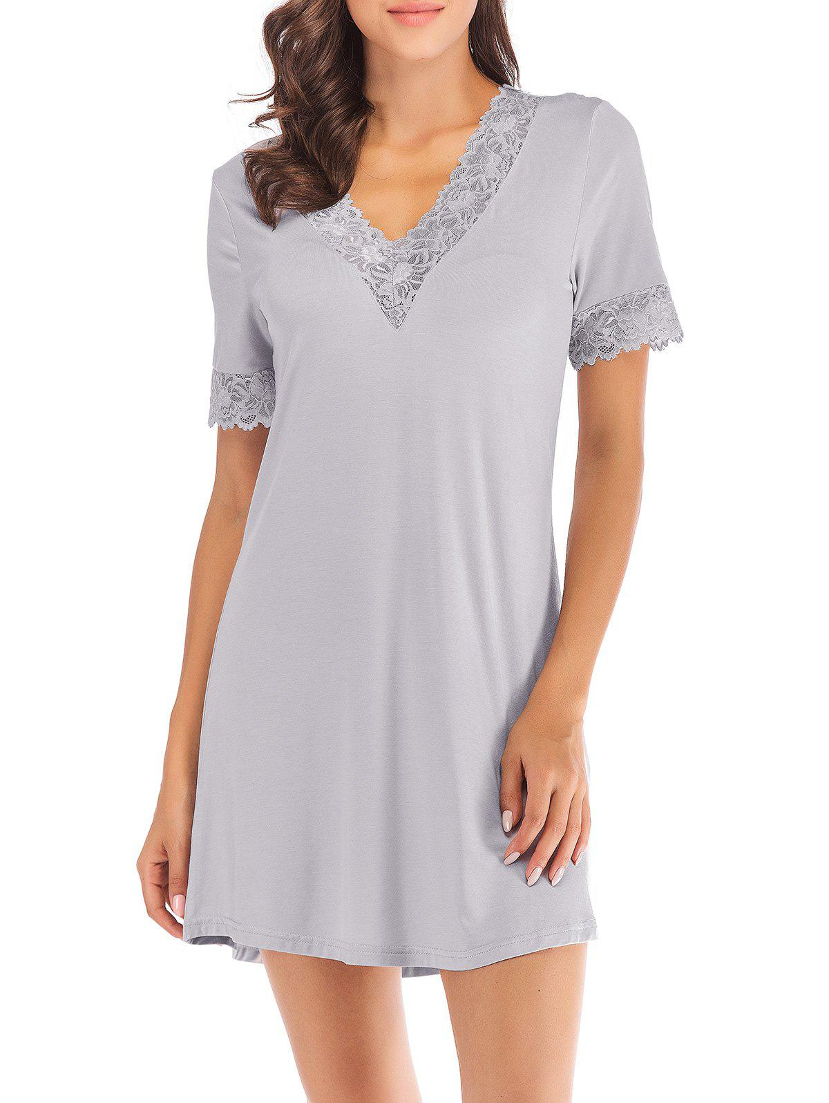 Discount Lace Insert Mini Sleeping Dress
