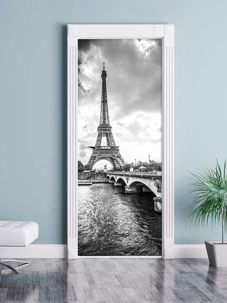 Best Eiffel Tower Print Door Art Stickers