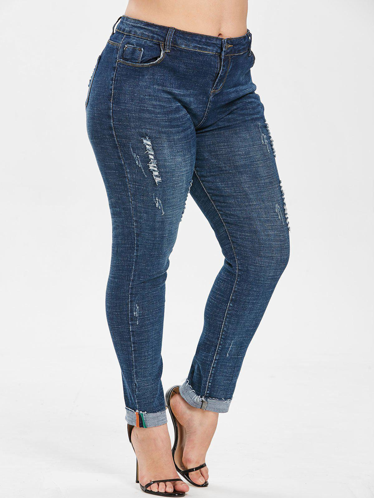 Store Plus Size Ripped Jeans