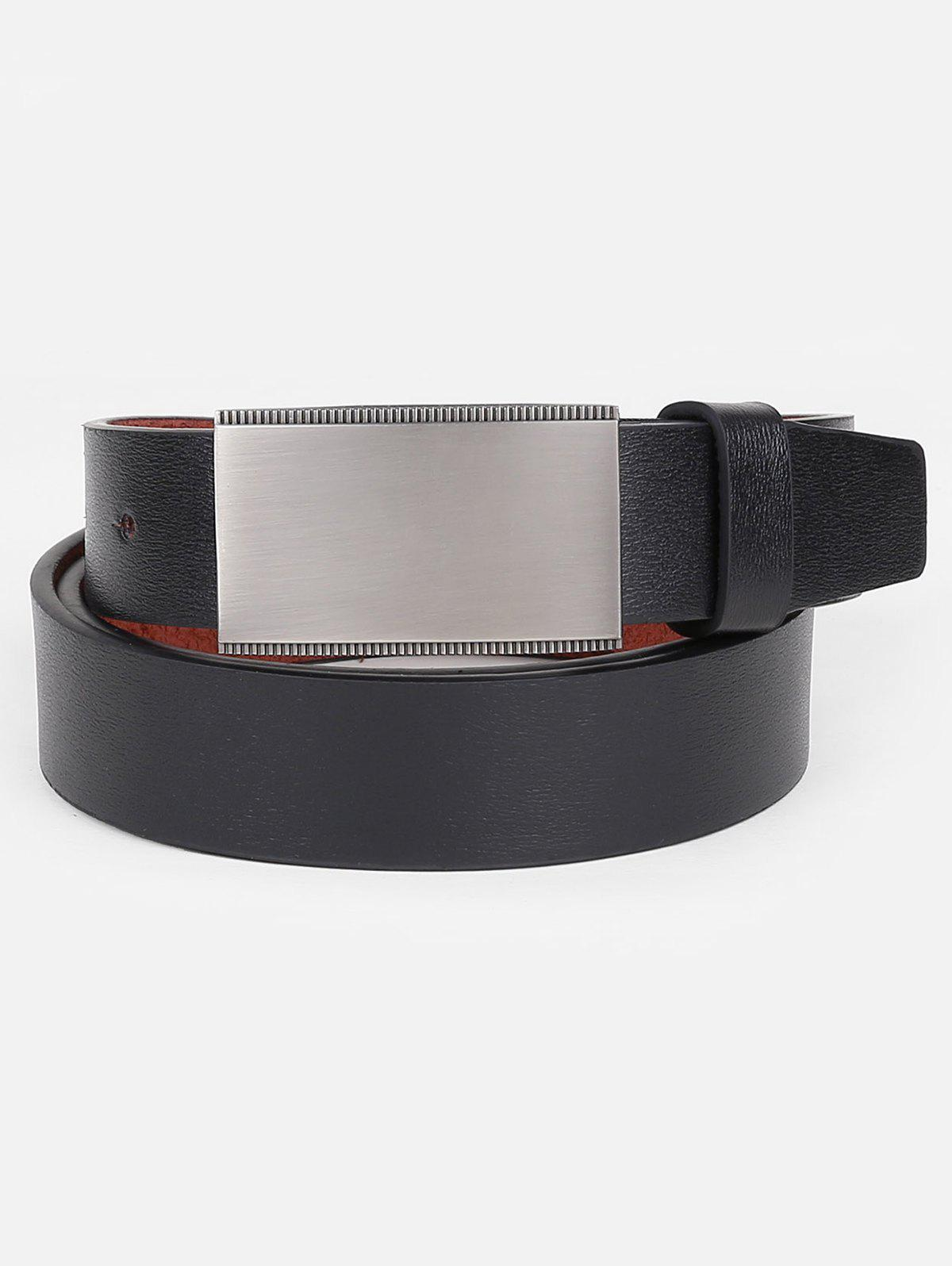 New Faux Leather Plate Buckle Waist Belt