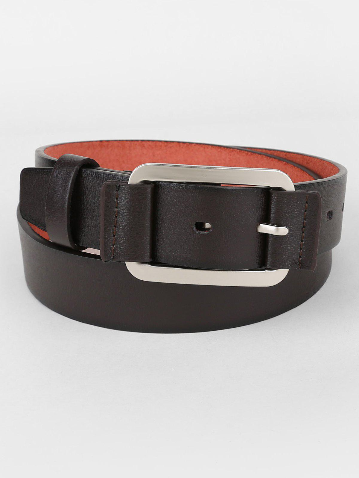 Hot Metal Pin Buckle Faux Leather Belt