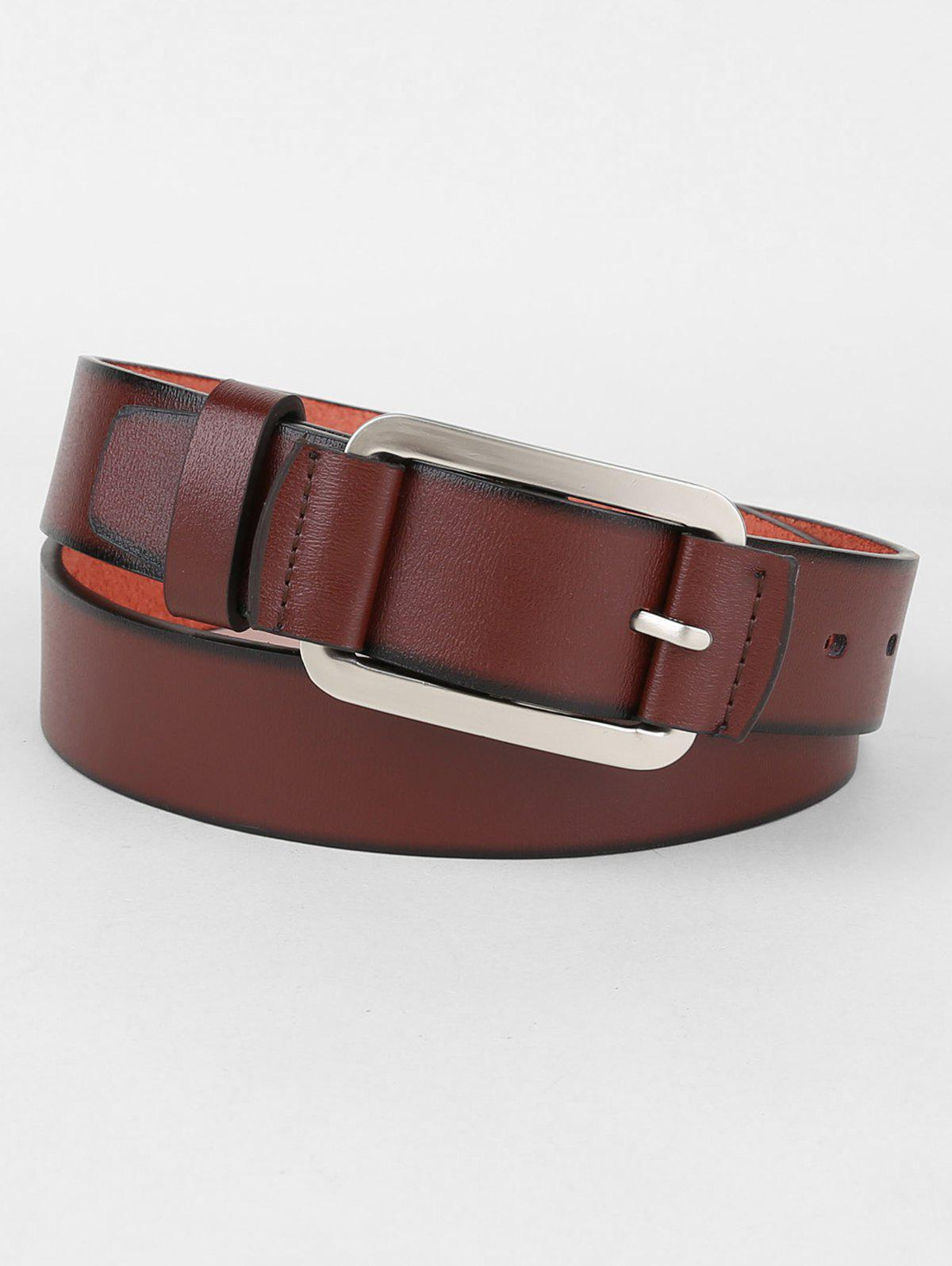 Shop Metal Pin Buckle Faux Leather Belt