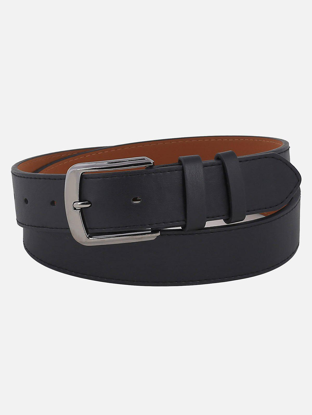 Store Metal Buckle Faux Leather Waist Belt