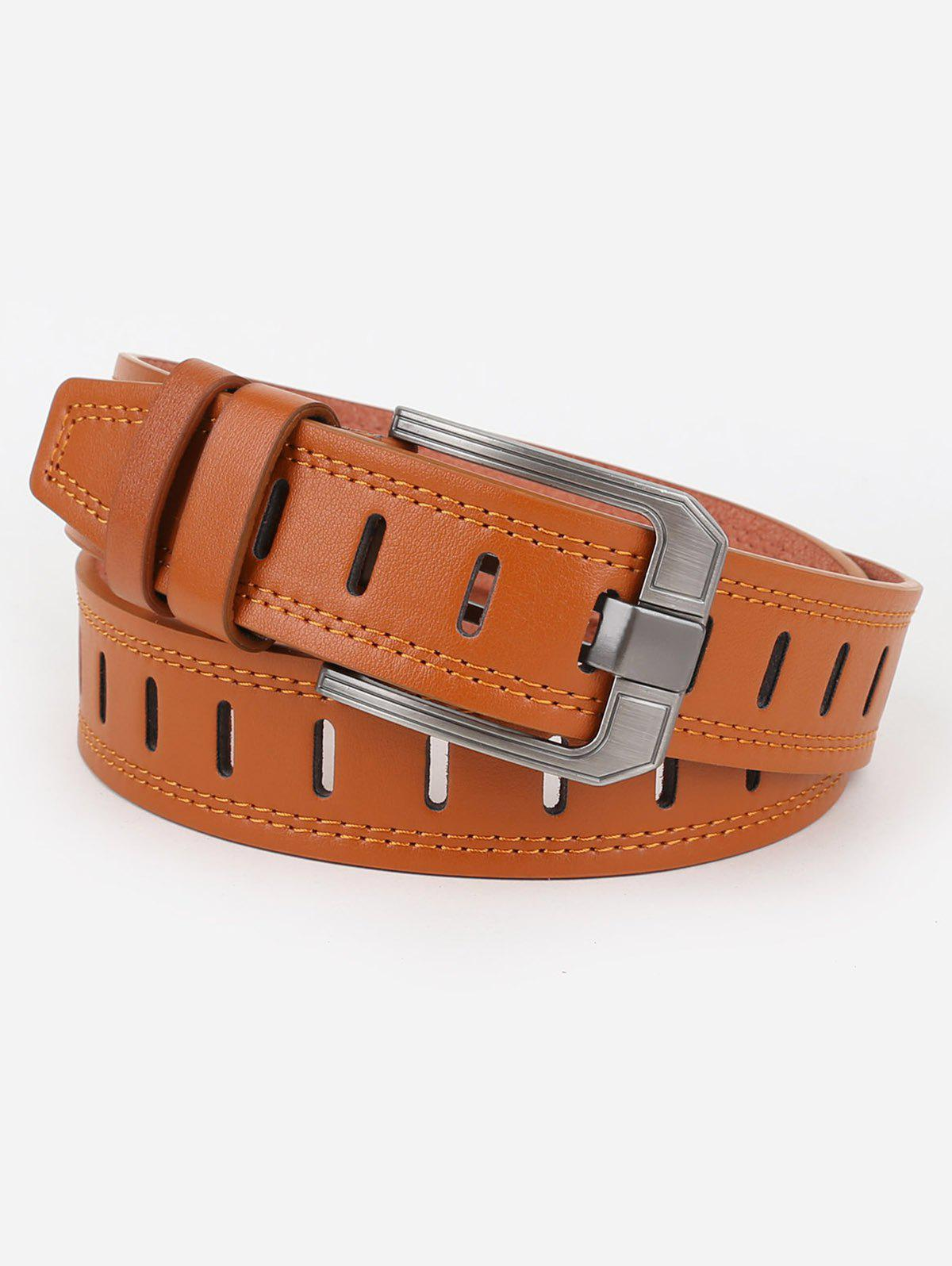 Trendy Hollow Out Faux Leather Waist Belt