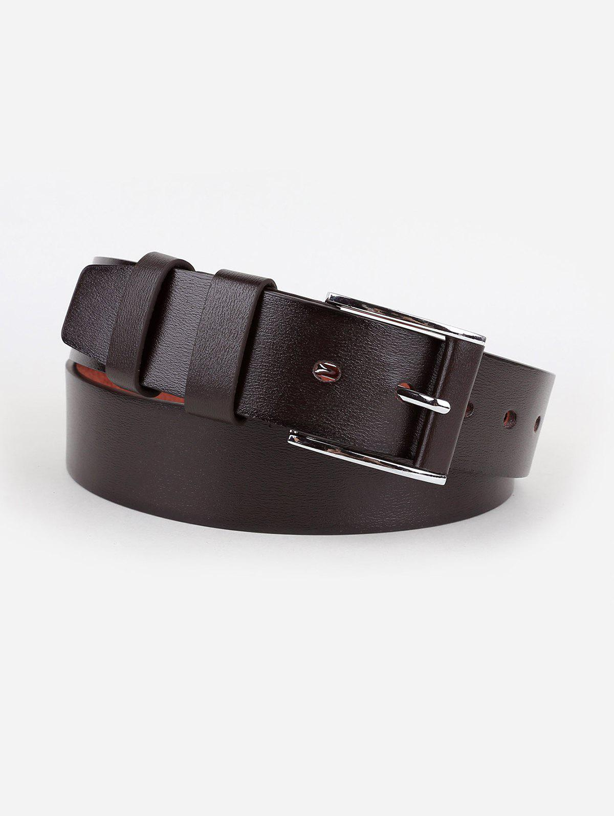 Trendy Silver Pin Buckle Casual Faux Leather Belt