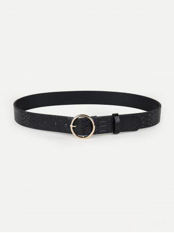 Hollow Out Round Shape Buckle Belt