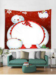 Cartoon Snowman Printed Wall Hanging Tapestry -