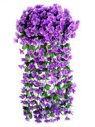 Violet Wall Hanging Artificial Vine Flowers -