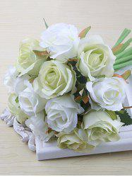 12 Heads Color Block Artificial Rose Flowers -