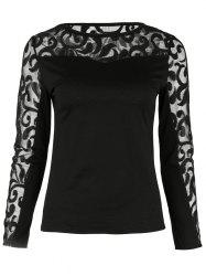 Long Sleeve Mesh Insert Top -
