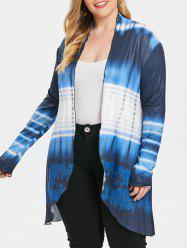Ombre Plus Size Collarless Coat -