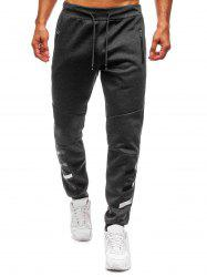 Stripes Drawstring Elstic Long Casual Jogger Pants -