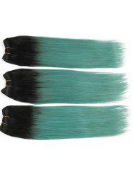 3Pcs Brazilian Virgin Ombre Straight Human Hair Weaves -