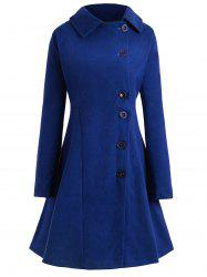 Plus Size Hooded Flare Coat -
