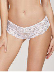 Scalloped See Through Lace Briefs -