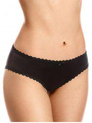 Mid Rise Lace Trim Briefs -