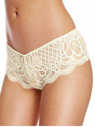 See Through Scalloped Lace Briefs -