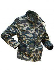 Appliques Camouflage Printed Jacket -