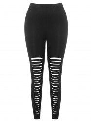 High Waist Ladder Cut Out Plus Size Pants -