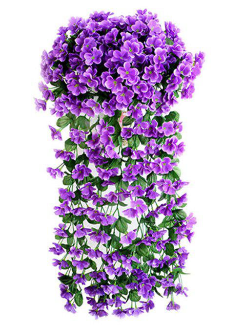 Cheap Violet Wall Hanging Artificial Vine Flowers